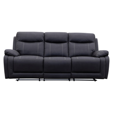 Maine Three Seat Recliner - Jet - Warehouse Furniture Clearance