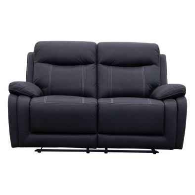 Maine Two Seat Recliner - Jet - Warehouse Furniture Clearance
