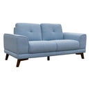 Norman Two Seater - Sky - Warehouse Furniture Clearance