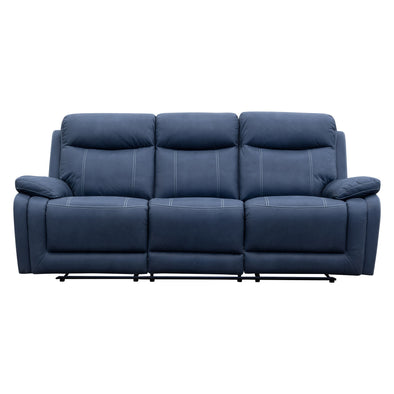 Maine Three Seat Recliner - Navy - Warehouse Furniture Clearance