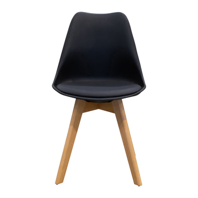 Florida Shell Chair - Black - Warehouse Furniture Clearance