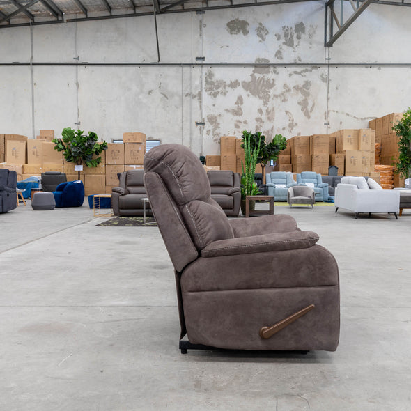 Harlow Rocker Recliner - Graphite - Warehouse Furniture Clearance