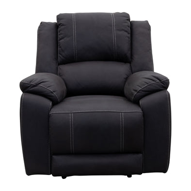Gozo Single Recliner - Jet - Ships / Pickup from 3rd September - Warehouse Furniture Clearance