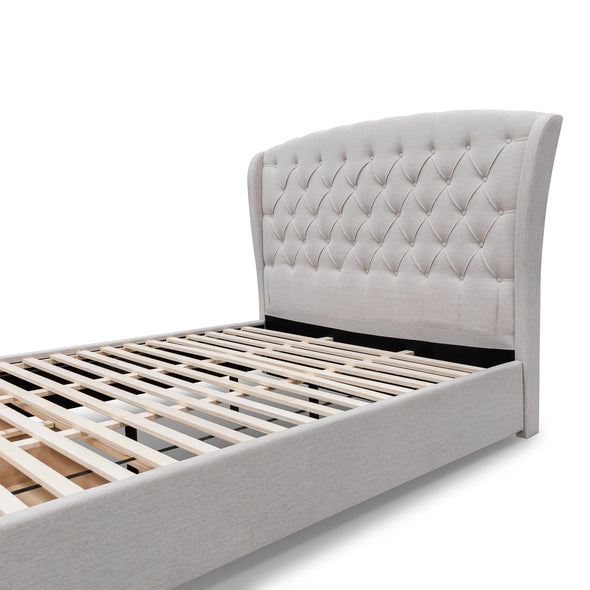 Grace King Fabric Bed - Oat - Warehouse Furniture Clearance