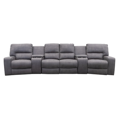 Helix 4 Recliner Theatre Lounge - Ash - Warehouse Furniture Clearance