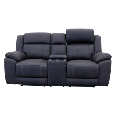 Venus Two Seat Electric Recliner Theatre - Jet - Warehouse Furniture Clearance