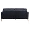 Moran Leather Two Seater - Black - Warehouse Furniture Clearance