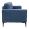 Moran Leather Two Seater - Blue - Warehouse Furniture Clearance