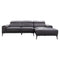 Sentosa RHF Chaise Lounge - Graphite Leather - Warehouse Furniture Clearance