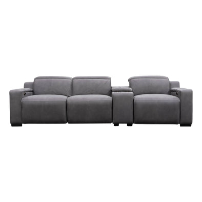 Madrid Electric Three Seater Recliner Lounge - Ash - Warehouse Furniture Clearance