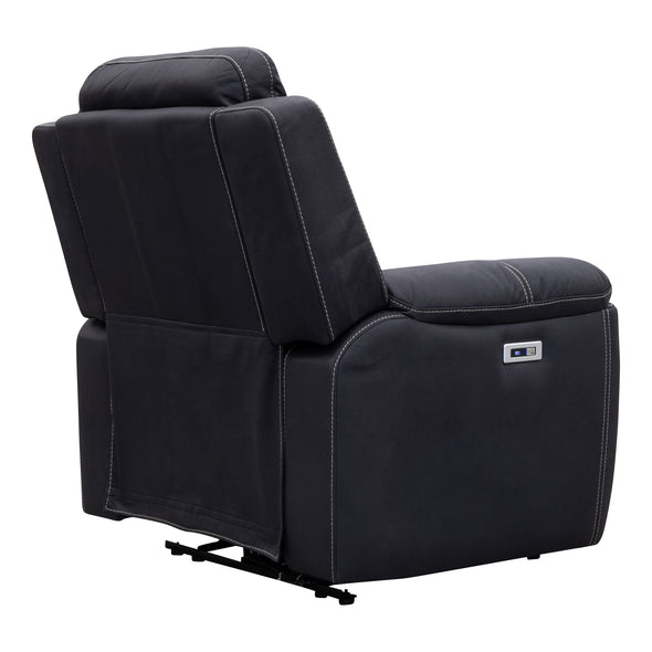 Marco Electric Recliner - Jet - Warehouse Furniture Clearance