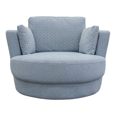 Cooper Swivel Chair - Eclipse Sky - Warehouse Furniture Clearance