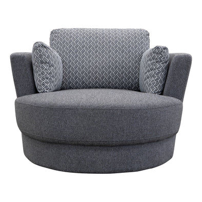 Cooper Swivel Chair - Eclipse Iron - Warehouse Furniture Clearance