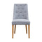 Island Dining Chair - Natural - Silver - Warehouse Furniture Clearance