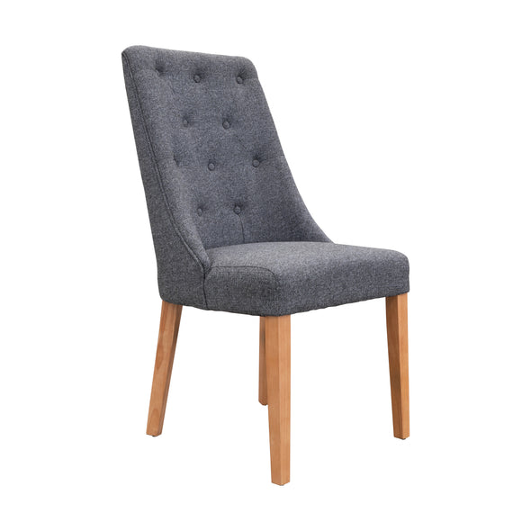 Island Dining Chair - Natural - Iron - Warehouse Furniture Clearance