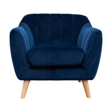 Pearl Accent Chair - Future Navy Velvet #77 - Warehouse Furniture Clearance