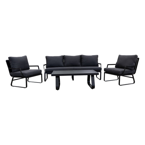 Kavala 4 Piece Outdoor Lounge Suite - Warehouse Furniture Clearance