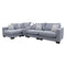 Paige Reversible Chaise Lounge - Haze - Warehouse Furniture Clearance