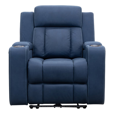 Remi Electric Recliner - Navy - Warehouse Furniture Clearance