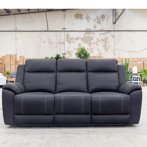 Marco Electric Three Seater - Jet - Warehouse Furniture Clearance