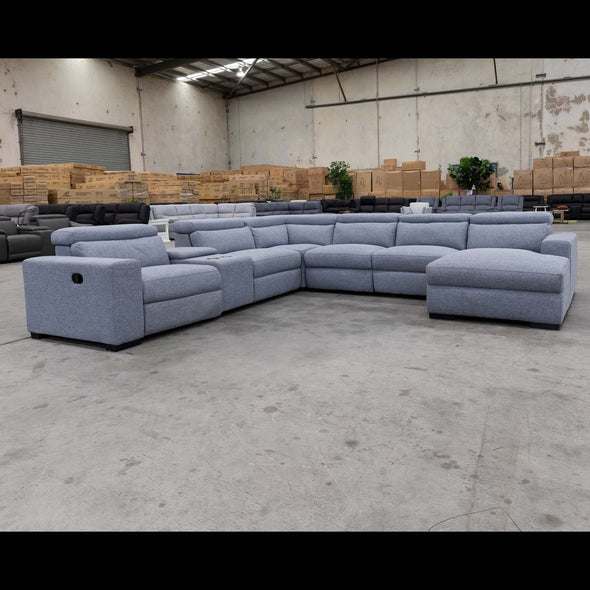 Alamo Corner Chaise Lounge - Storm - Warehouse Furniture Clearance