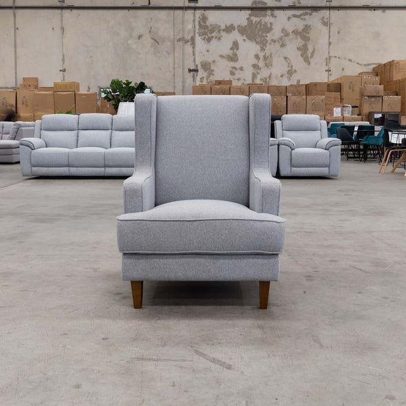 Alexandria Accent Chair - Haze - Warehouse Furniture Clearance