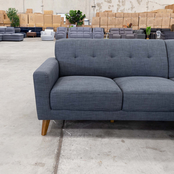 Alma Chaise Lounge – Steel - Warehouse Furniture Clearance