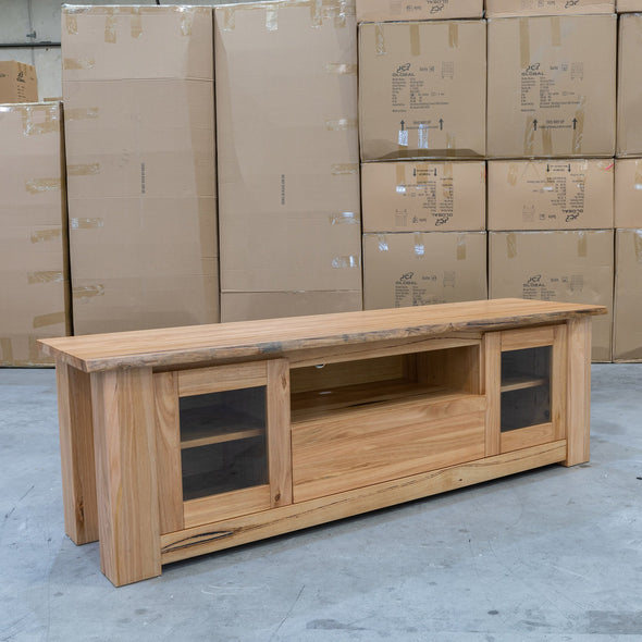 Athena Messmate Hardwood Entertainment Unit - Warehouse Furniture Clearance