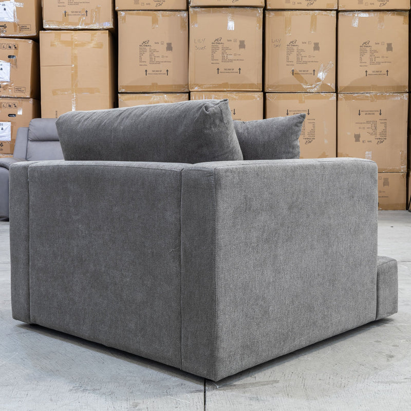 Atlanta Feather & Foam Armchair - Licorice - Warehouse Furniture Clearance