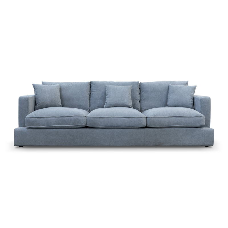 Atlanta Feather & Foam Three Seater - Mist - Warehouse Furniture Clearance