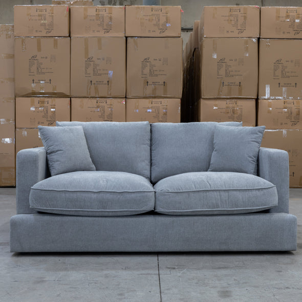 Atlanta Feather & Foam Two Seater - Mist - Warehouse Furniture Clearance