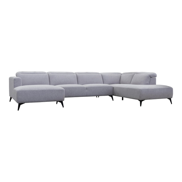 Bella Chaise Corner Lounge - Silver - Warehouse Furniture Clearance