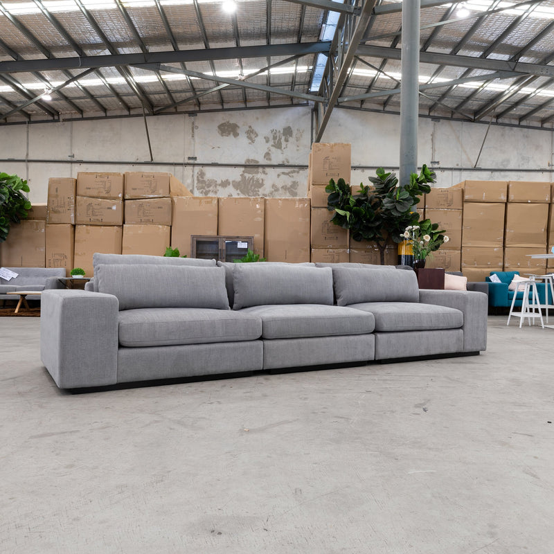 Boston Oversized Three Seat Sofa - Storm - Warehouse Furniture Clearance