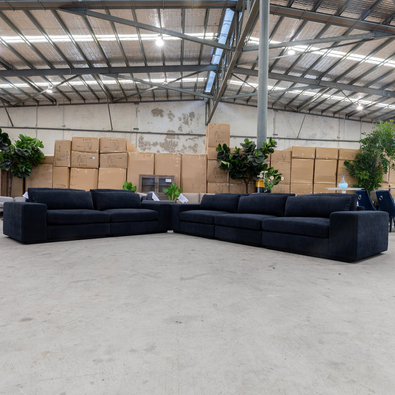 Boston Oversized Two Seat Sofa - Midnight - Warehouse Furniture Clearance