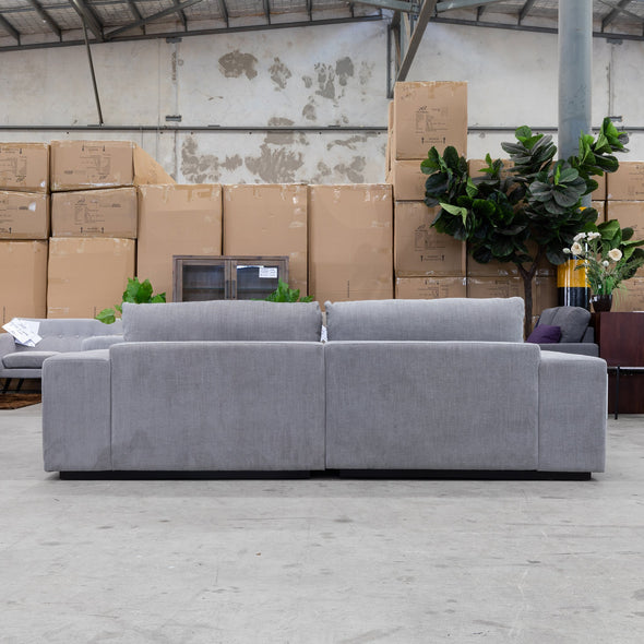 Boston Oversized Two Seat Sofa - Storm - Warehouse Furniture Clearance