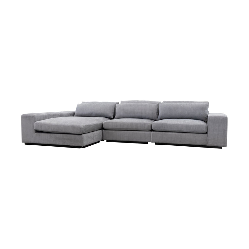 Boston Reversible Chaise Lounge - Storm - Warehouse Furniture Clearance