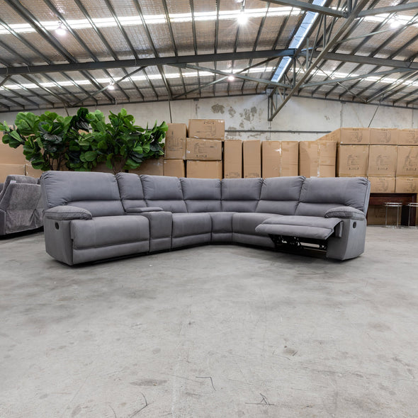 Capri Modular Corner Lounge - Ash - Warehouse Furniture Clearance