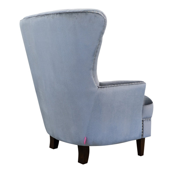 Charlotte Accent Chair – Velvet Silver - Warehouse Furniture Clearance