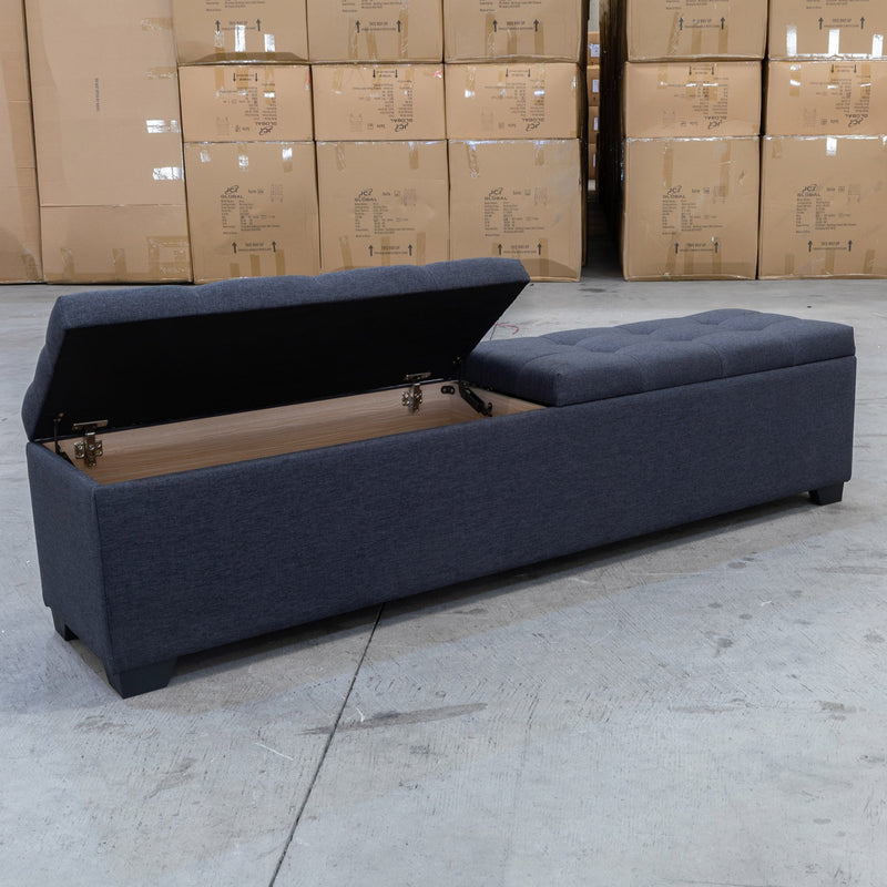 Chelsea 1500mm - Queen Size Blanket Box - Mid Grey - Warehouse Furniture Clearance