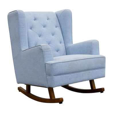 Clara Rocking Chair - Sky - Warehouse Furniture Clearance