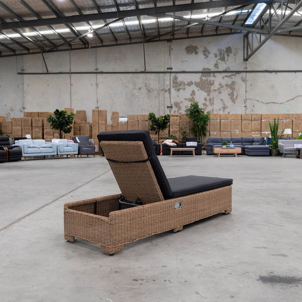 Clarke Outdoor Adjustable Sun Lounger - Warehouse Furniture Clearance