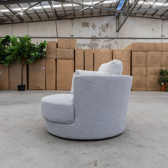 Cooper Swivel Chair - Eclipse Haze - Warehouse Furniture Clearance