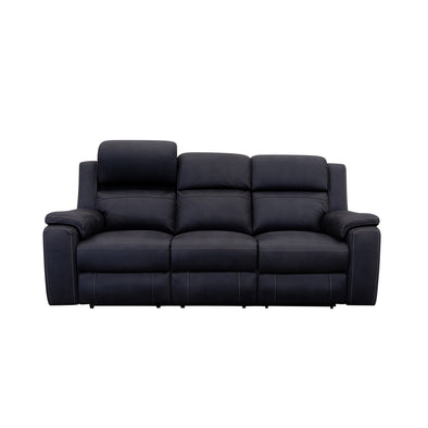 Diamond Head Three Seater Electric Recliner Lounge - Jet - Warehouse Furniture Clearance