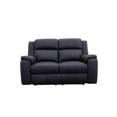 Diamond Head Two Seater Electric Recliner Lounge - Jet - Warehouse Furniture Clearance