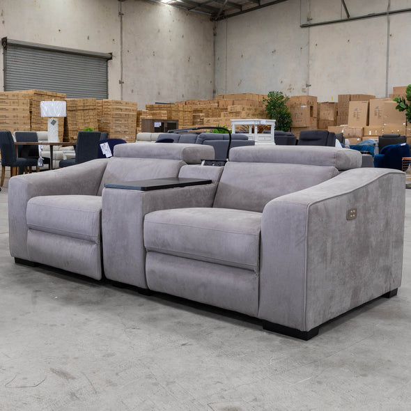 Drover Electric Two Seater Theatre Lounge - Magnet - Warehouse Furniture Clearance