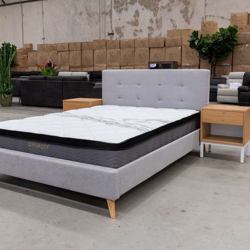 Dynasty Pocket Coil Queen Mattress - Warehouse Furniture Clearance