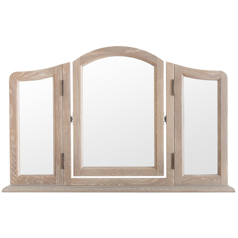 FR-TM - Hardwood Trinket Mirror - Warehouse Furniture Clearance