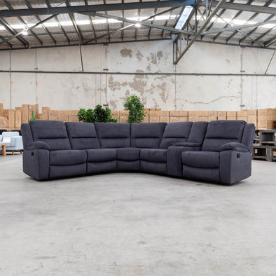 Harlow Modular Corner Lounge - Ebony YD - Warehouse Furniture Clearance