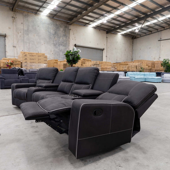 Helix Theatre Lounge - Jet - Warehouse Furniture Clearance
