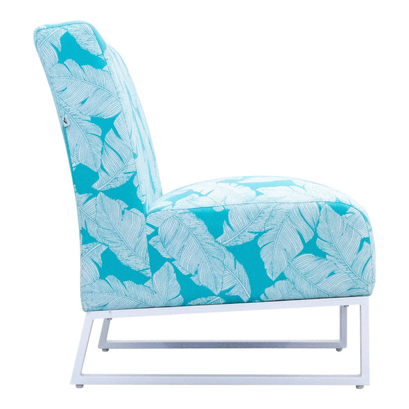 Jester Outdoor Accent Chair - Teal Palm - Warehouse Furniture Clearance